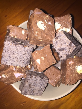 Fudge made with gluten free ingredients including the Gluten Free Oreos