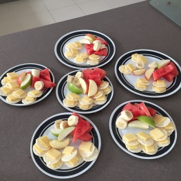 Rice Crackers, Cheese, Fruit all Gluten Free