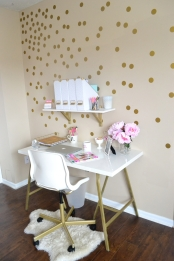 All Things Pink And Pretty Home Decor Part Two My Mini Office regarding Pretty Home Office - Design Decor
